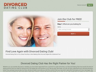 Divorced Dating Club Homepage Image
