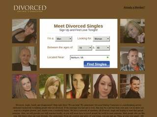Divorced Dating Connexion Homepage Image