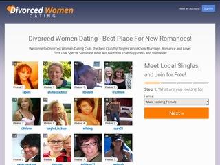 Divorced Women Dating Homepage Image